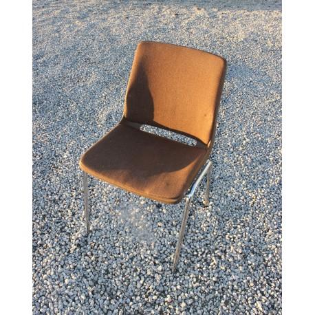 Polstret stol brun